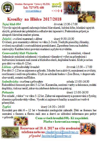 zájmové kroužky 2017/2018