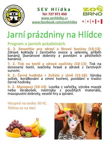 Jarní prázdniny na Hlídce 6.-9.2.2018