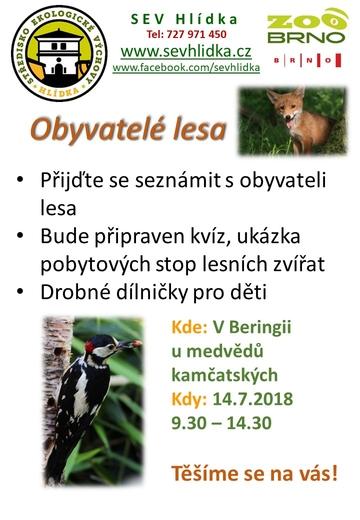 Obyvatelé lesa 14.7.2018